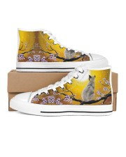 Cat love - Shoes 02 Women's High Top White Shoes inside-left-outside-left