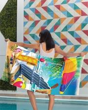 Beach love turtle Premium Beach Towel aos-beach-towel-lifestyle-front-03