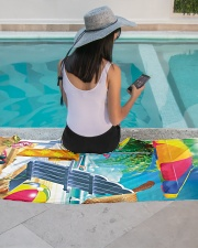 Beach love turtle Premium Beach Towel aos-beach-towel-lifestyle-front-06