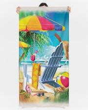 Beach love turtle Premium Beach Towel aos-beach-towels-lifestyle-front-09