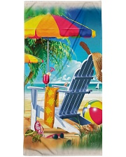 Beach love turtle Premium Beach Towel front
