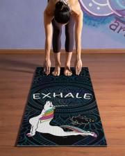 Exhale - Unicorn Yoga Yoga Mat 24x70 (vertical) aos-yoga-mat-lifestyle-25