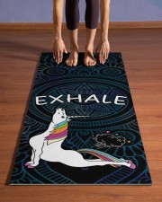 Exhale - Unicorn Yoga Yoga Mat 24x70 (vertical) aos-yoga-mat-lifestyle-26