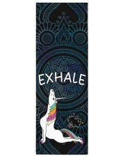 Exhale - Unicorn Yoga Yoga Mat 24x70 (vertical) front