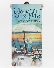 You and me we got this  Premium Beach Towel aos-beach-towels-lifestyle-front-09