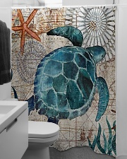 Love Turtle Shower Curtain aos-shower-curtains-71x74-lifestyle-front-04