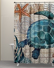 Love Turtle Shower Curtain aos-shower-curtains-71x74-lifestyle-front-05