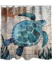 Love Turtle Shower Curtain front