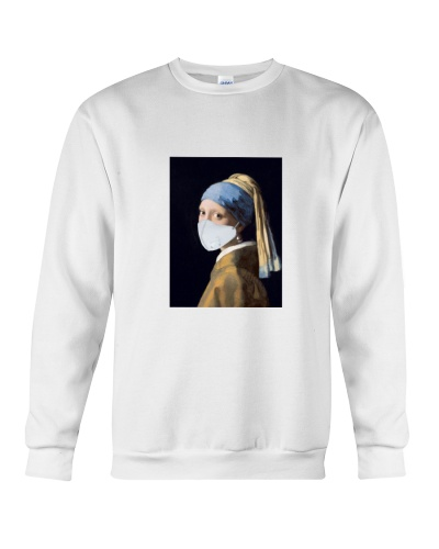 Girl With A Pearl Earring T-Shirt - Face Mask Meme