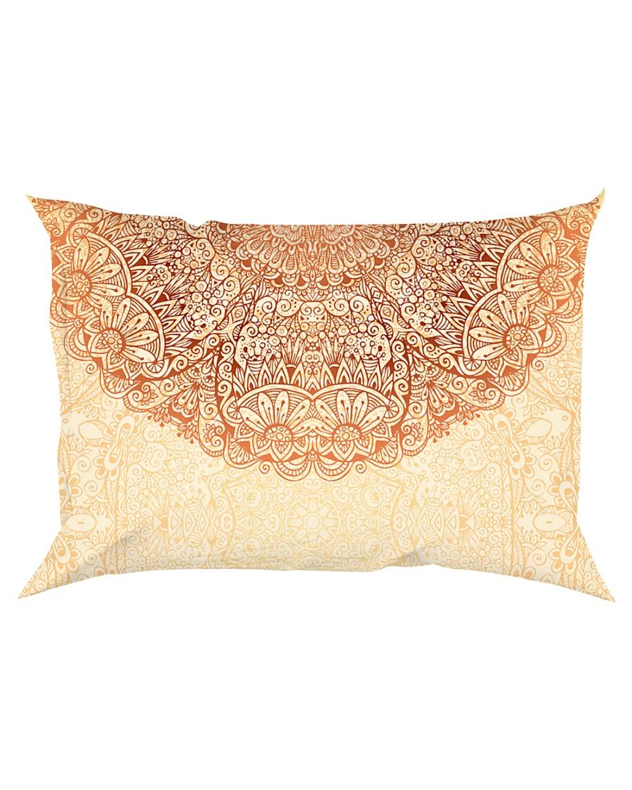 Esplendor Luxurious Mandala mehndi Mystical Floral Rectangular Pillowcase