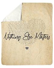 "Nothing Else Matters Sherpa Fleece Blanket - 50"" x 60"" thumbnail"