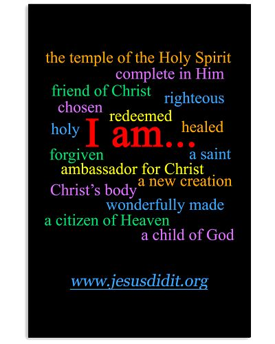 I am - Identity in Christ Poster