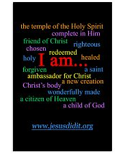 I am - Identity in Christ Poster 16x24 Poster front