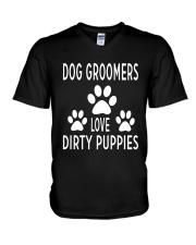 Dog Groomer  V-Neck T-Shirt thumbnail