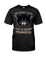 Love Wolf tee Premium Fit Mens Tee thumbnail