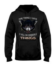 Love Wolf tee Hooded Sweatshirt thumbnail