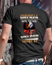Welder Shows Up Classic T-Shirt lifestyle-mens-crewneck-back-2