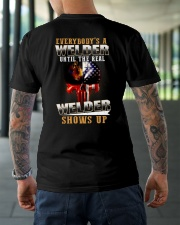 Welder Shows Up Classic T-Shirt lifestyle-mens-crewneck-back-3