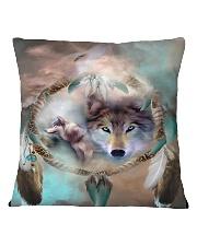Wolf Sprit Mug Square Pillowcase thumbnail