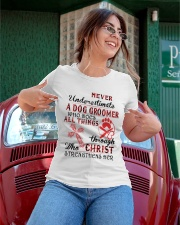 Never Underestimate a Dog Groomer Ladies T-Shirt apparel-ladies-t-shirt-lifestyle-01