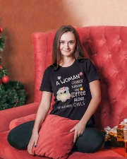 Owls tee Ladies T-Shirt lifestyle-holiday-womenscrewneck-front-2