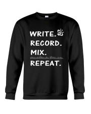 Write record mix repeat Crewneck Sweatshirt thumbnail