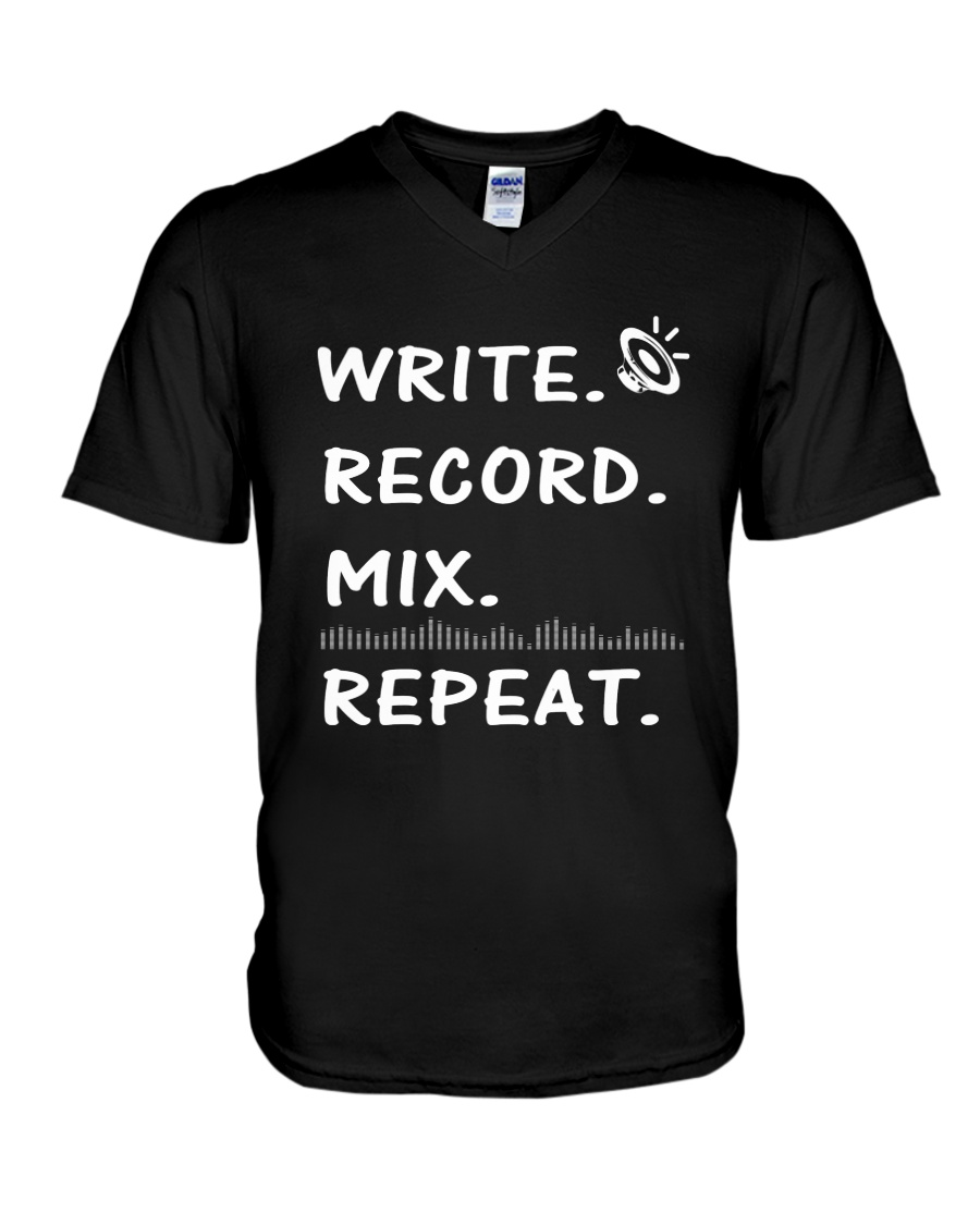 Write record mix repeat V-Neck T-Shirt