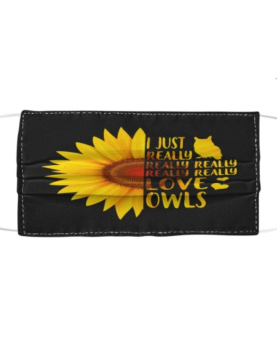 Love Owls Cloth Mask
