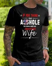 Smartass Wife  Classic T-Shirt lifestyle-mens-crewneck-front-7
