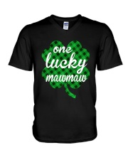 One lucky mawmaw V-Neck T-Shirt thumbnail