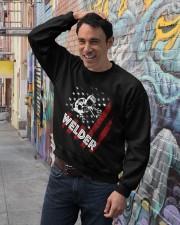 Welder Tshirt Crewneck Sweatshirt lifestyle-unisex-sweatshirt-front-4