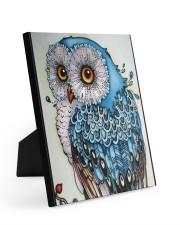 Owl art Easel-Back Gallery Wrapped Canvas tile