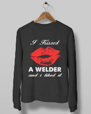 Kissed a welder Crewneck Sweatshirt lifestyle-unisex-sweatshirt-front-10