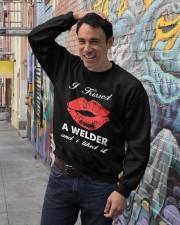 Kissed a welder Crewneck Sweatshirt lifestyle-unisex-sweatshirt-front-4