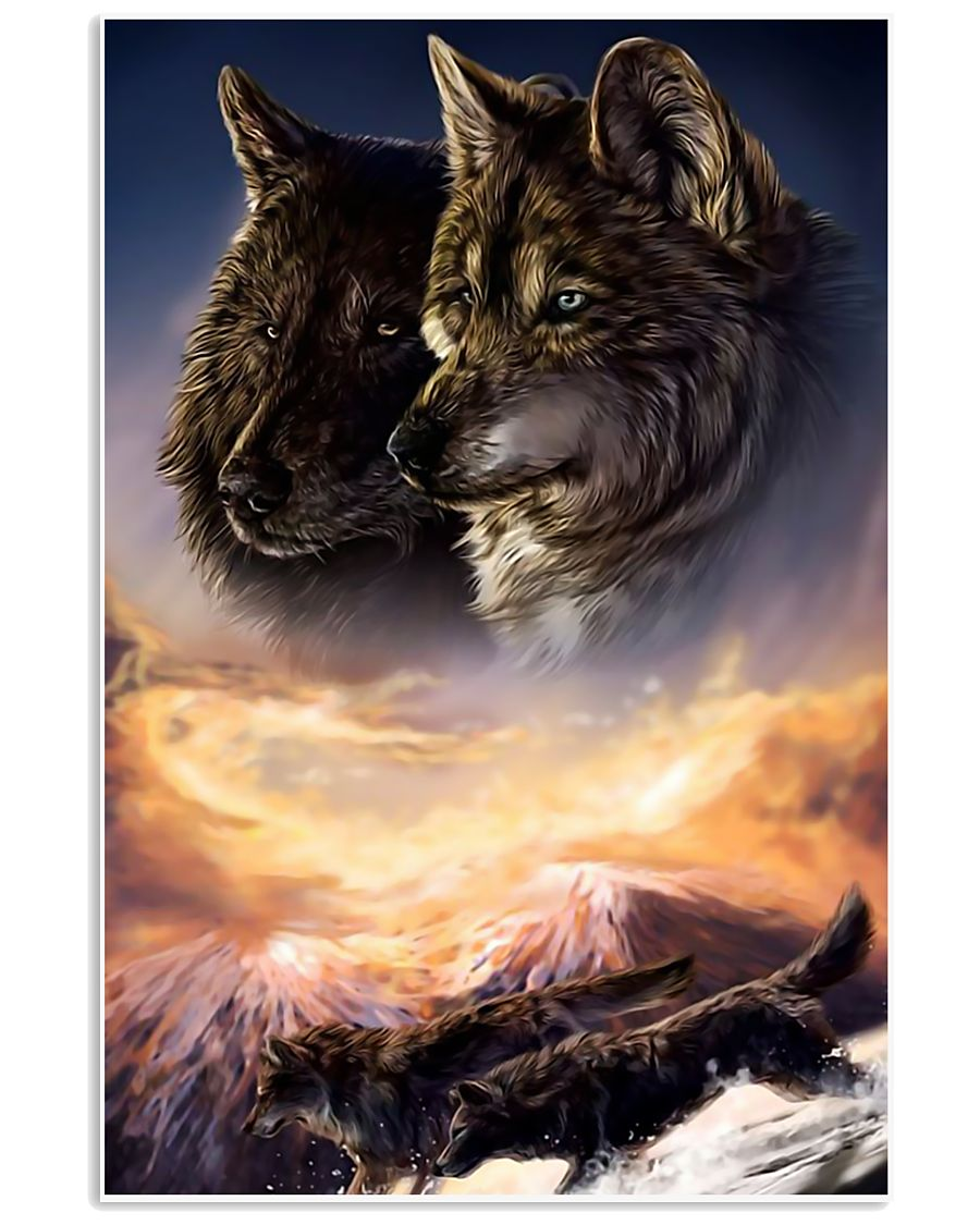 Two Wolf Art 11x17 Poster