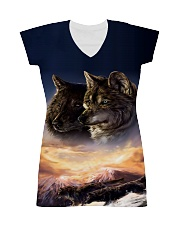 Two Wolf Art All-over Dress thumbnail