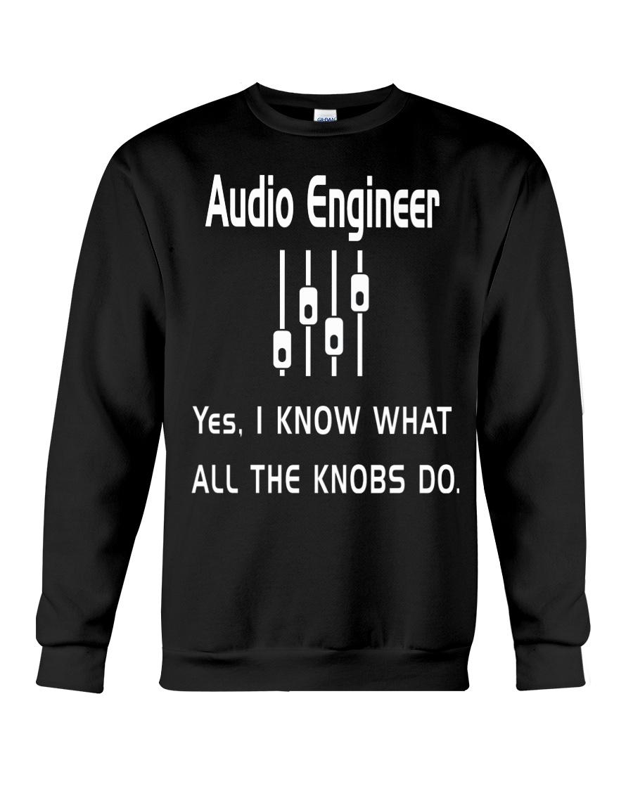 Audio Engineer all the knobs do Crewneck Sweatshirt
