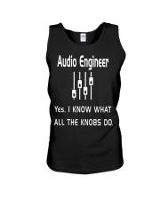 Audio Engineer all the knobs do Unisex Tank thumbnail