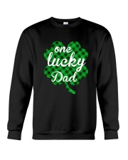 One lucky dad Crewneck Sweatshirt thumbnail