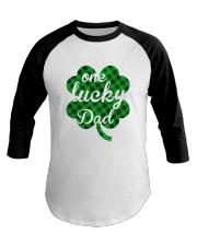 One lucky dad Baseball Tee thumbnail