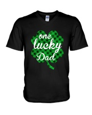 One lucky dad V-Neck T-Shirt thumbnail