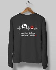 Wolf my heart beats tee Crewneck Sweatshirt lifestyle-unisex-sweatshirt-front-10