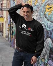 Wolf my heart beats tee Crewneck Sweatshirt lifestyle-unisex-sweatshirt-front-4