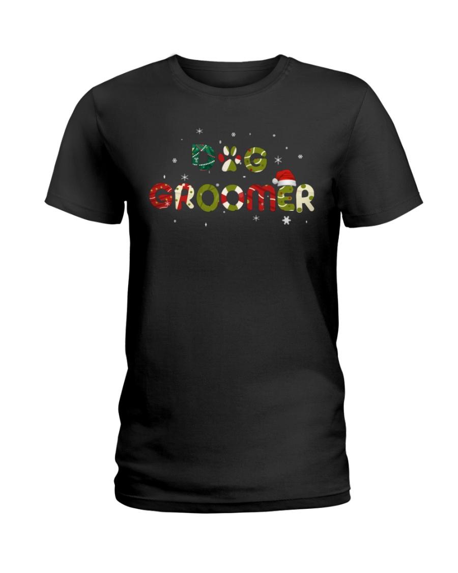 Dog Groomer Xmas Ladies T-Shirt