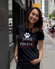 Dogs Make me happy Ladies T-Shirt lifestyle-women-crewneck-front-5