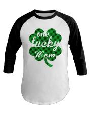 One lucky mom Baseball Tee thumbnail