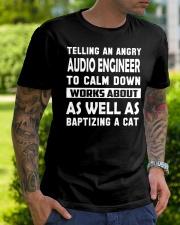 Audio Engineer tee Classic T-Shirt lifestyle-mens-crewneck-front-7