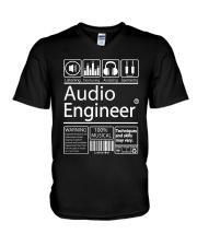 Audio Engineer V-Neck T-Shirt thumbnail