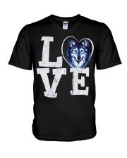 Love Wolf V-Neck T-Shirt thumbnail