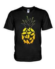 PINEAPPLE OWL T-Shirt V-Neck T-Shirt thumbnail